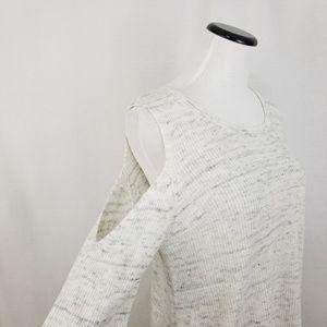 love scarlett Sweaters - NEW Love Scarlett Cold Shoulder Lace-Up Sweater